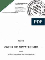 COURS DE MÉTALLURGIE