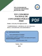Ponencia Al XXV Congreso Nacional CCP HUÁNUCO
