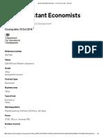 B1(D) Assistant Economists - Civil Service Jobs - GOV