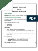 PERITONITELE ACUTE La Copil - Conspect - Dr.M.vasile