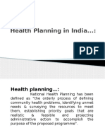 Health Planning in India