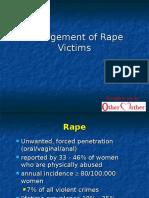Management of Rape Victims