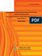 Produk Domestik Regional Bruto Kabupaten Pontianak Menurut Lapangan Usaha 2010-2014