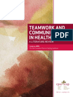 Canadian Framework for Teamwork and Communications Lit Review