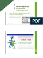 Ohsas 18001 - Sistemas de Gestão Para Segurança e Saúde Ocupacional