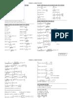 Hoja de Fórmulas - Formula Sheet