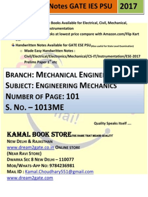 1013  ME_Engineering Mechanics | Science And Technology