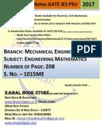 1015. ME Mathematics