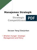 Manajemen Strategik P1 Prof Azhar