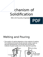 ME1130 Mechanism of Solidification