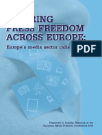 Securing Press Freedom Across Europe