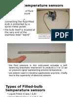 Filled Bulb Temperature Sensors