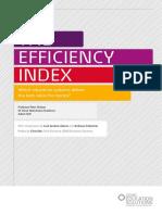 The Efficiency Index