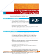 Using Your Equipment and Media Propertly and Safely