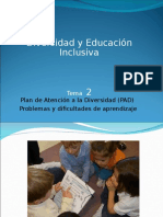 Tema 2 DIVERSIDAD E INCLUSION UCJC GRADO MAGISTERIO