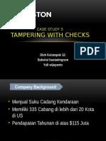 Case 5 Tampering of Checks Cetak