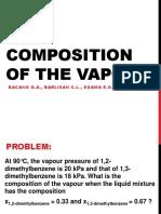 Composition of Vapor