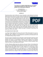 Full Paper a Comparative Analysis of Academic Performance of Public and Private Junior High Schools