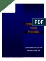 Importancia Clinica Dos Anticorpos Anti Eritrocitarios Ana Paula Cozac