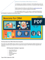 The Tiny Beacons, A Strong Backbone of the Mobile CRM Software Solutions