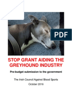 Stop Grant Aiding the Greyhound Industry
