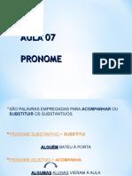 Aula 07 - Pronome