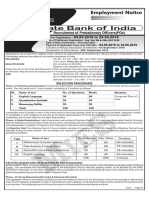 6) SBI PO 2016 Employment Notice