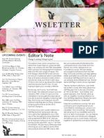 Self-Reg September Newsletter
