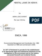 Summary of Environmental Laws