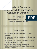 24486165 Analysis of Consumer Behavior While Purchasing Consumer Durable