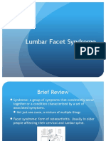 lumbar facet syndrome