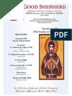 Good Shepherd American National Catholic Church Bulletin