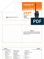 Baofeng UV-B5 user manual