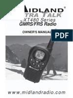 Midland LXT 480 radio user manual