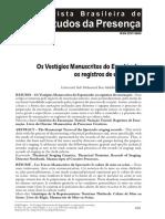 Os vestigio manuscritos do espetáculos - Fahd Kaghat.pdf