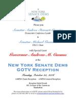 Dscc Cuomo Reception Invitation