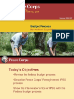 Peace Corps OST Budget Process 2008