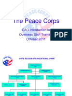 Peace Corps OST  CORE REGION ORGANIZATIONAL Cao Intro to Ost 2011