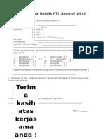 Borang Soal Selidik PT3 Geografi 2015