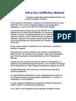 Actitud Frente a Los Conflictos Obreros