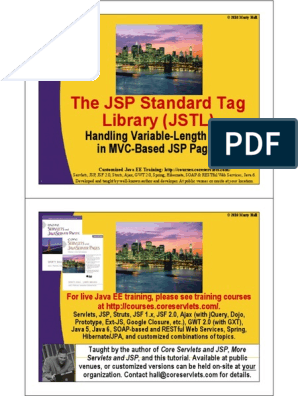 JSTL pdf | Java Server Pages | Java Servlet
