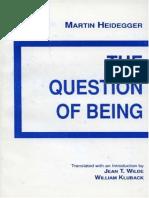A Questão Do Ser (Inglês)