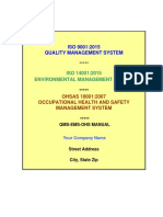 Quality, Environmental, And Occupational Health and Safety Manual