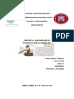 Bases Legales Del Presupuesto Publico Venezolano