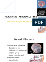 3. Placental Abnormalities