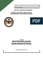 BIOTECNOLOGIA AGROINDUSTRIAL
