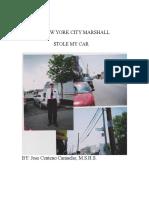 THE NEW YORK CITY MARSHALL STOLE MY CAR