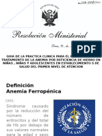 Anemia Ferropenica Presentación 2016