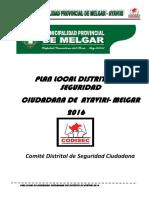 Plan de Seuridad Ciudadana 2016 Ayaviri