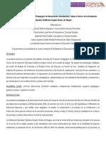 Analisis Curricular Proyecto Pedagogico